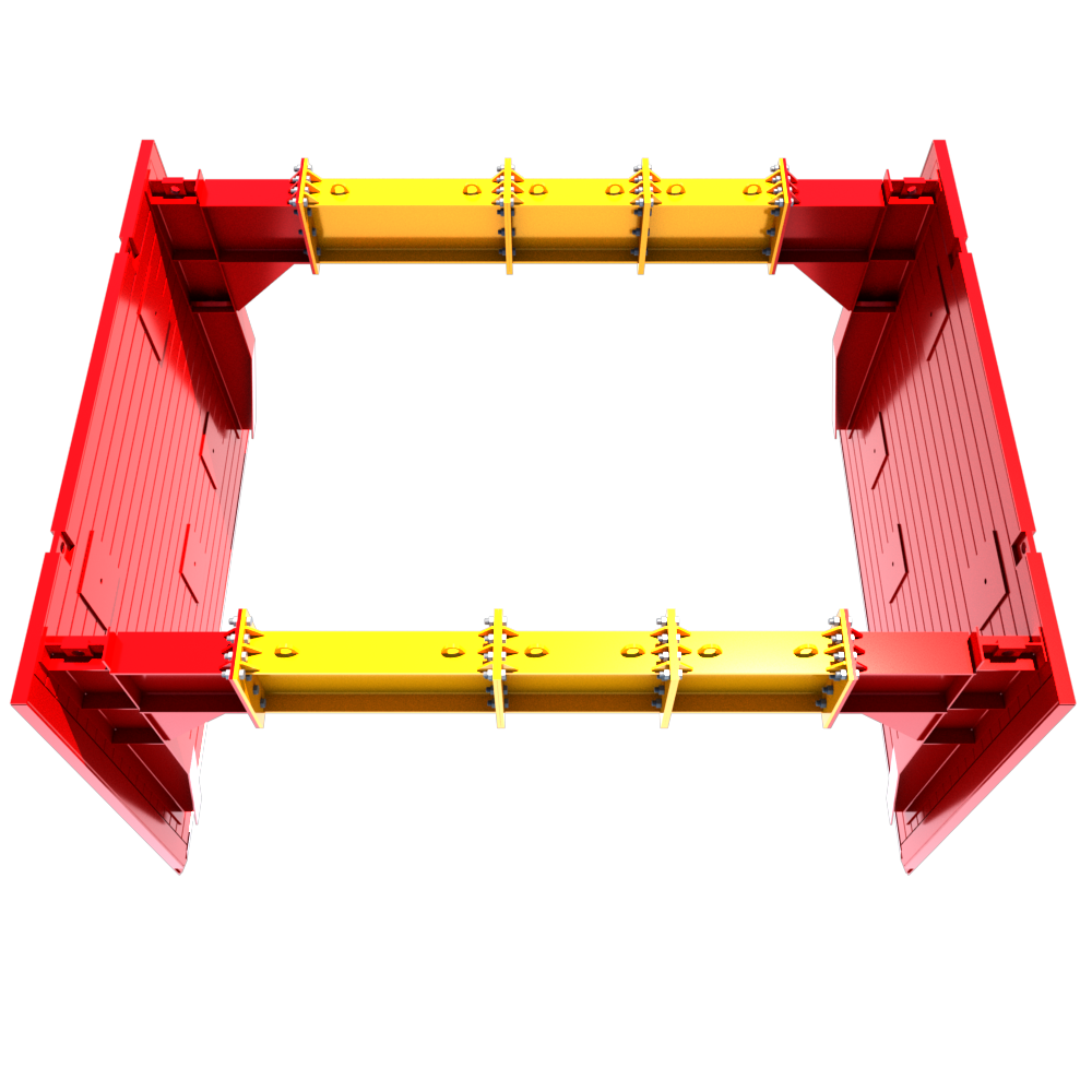 Animation of a Utility Trench Box as seen from above