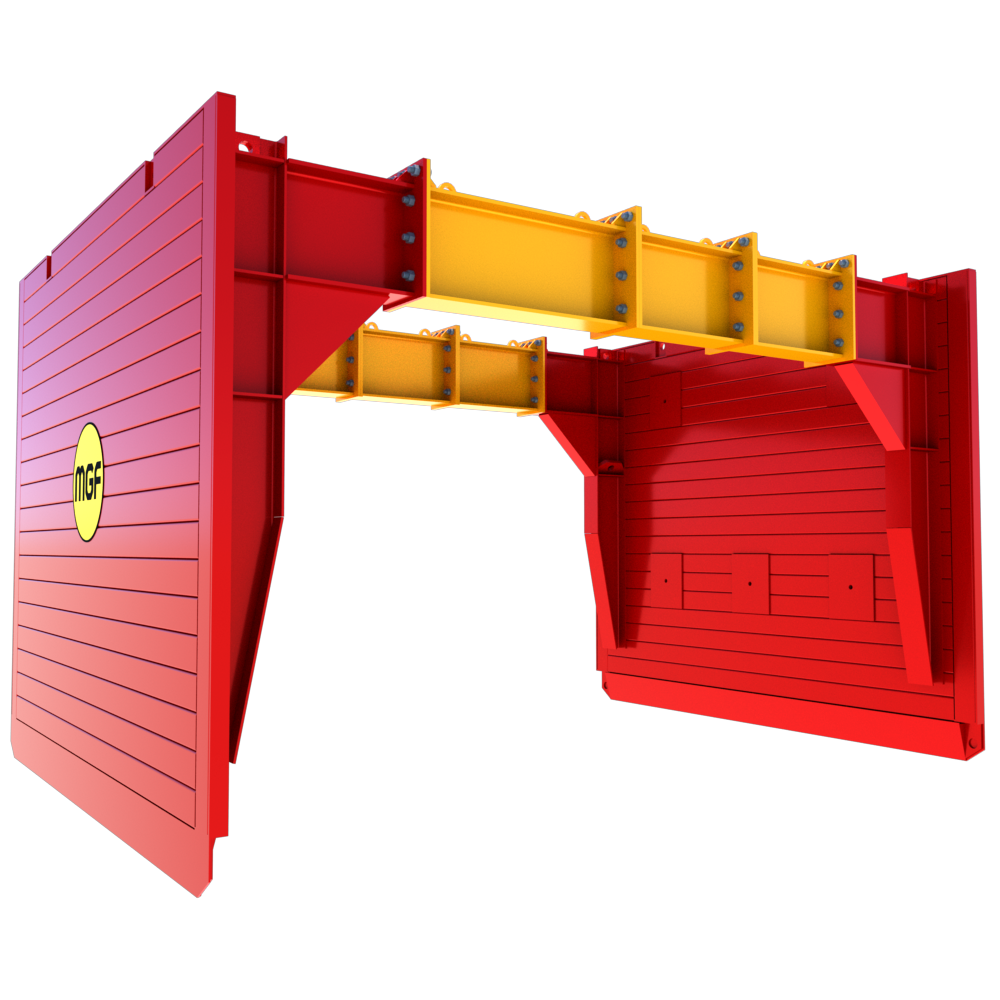 Side view of a Utility Trench Box render