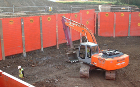 Red MGF King Posts installed onsite