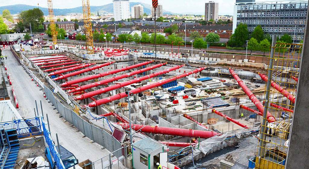 Large basement excavation at University of Ulster