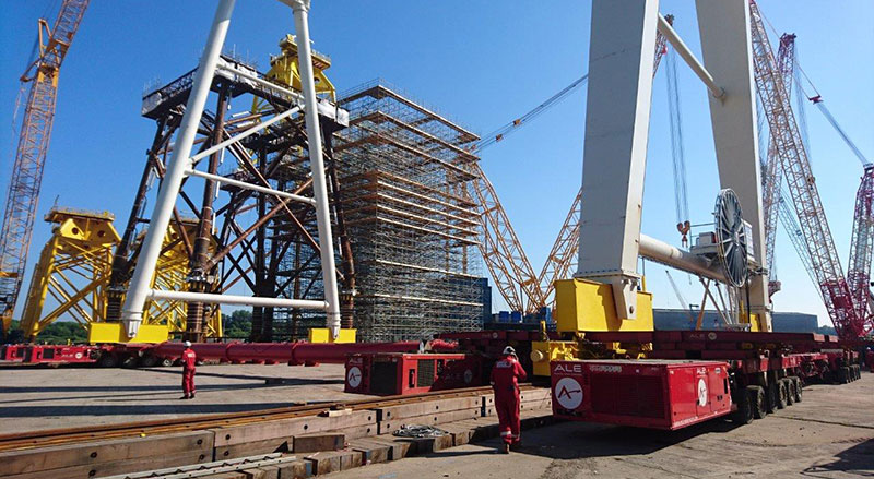 Image of huge Gantry Cranes from the ground