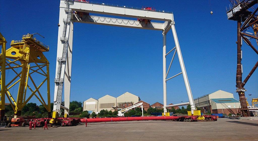 MGF kit used to support Gantry Cranes