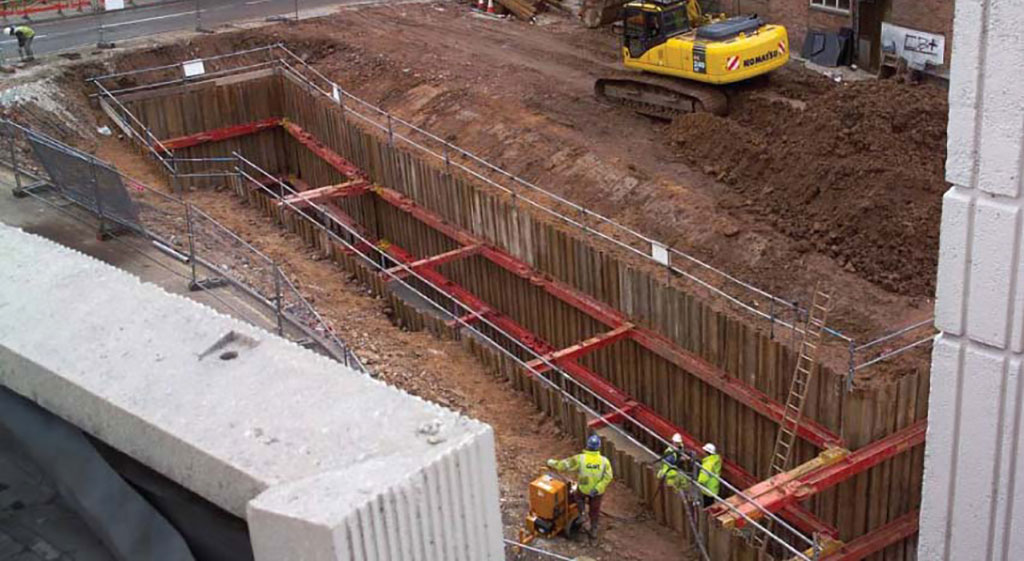 Image of a long trench excavation using MGF kit