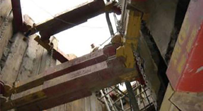 Image taken inside a deep excavation