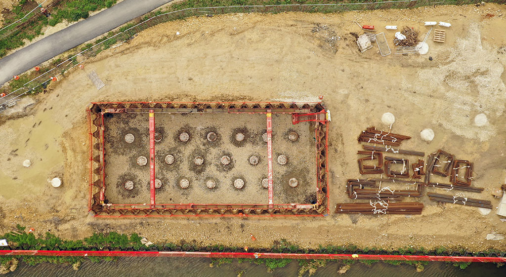 Aerial shot of excavation on Lincoln Eastern Bypass
