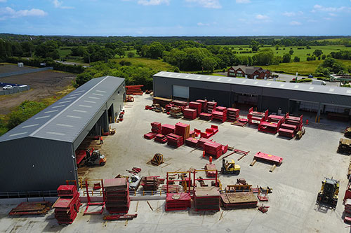 Drone image of MGF depot