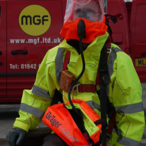 Confined safety equipment