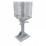 Render of a Light Screw Jack and Base Plate