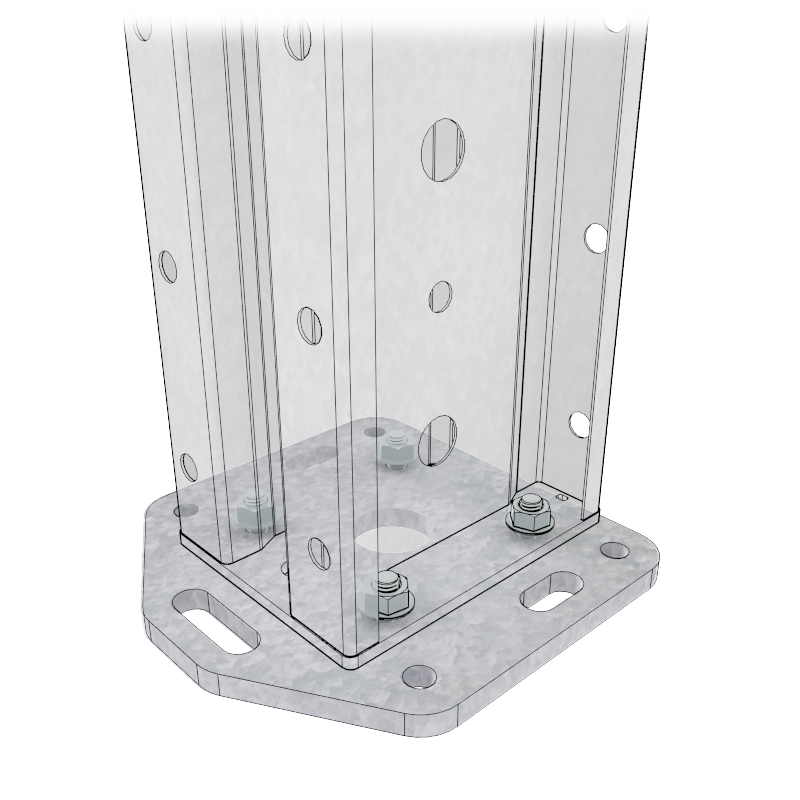 Render image of a Light Duty Anchor Plate