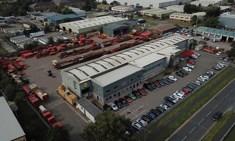 Drone image of MGF Head Office