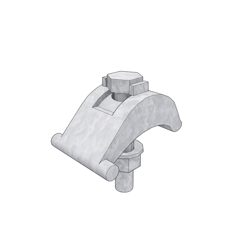 Render of a Needle/Grillage Beam Clamp