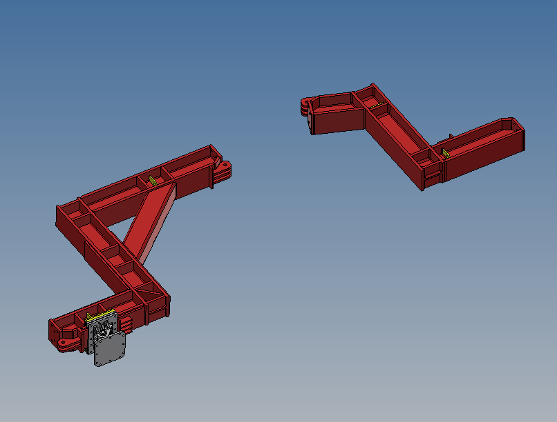 CAD Drawing of MGF bespoke bracing system