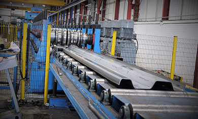 Trench Sheets in rolling machine