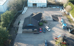 Aerial view of MGF Warrington depot