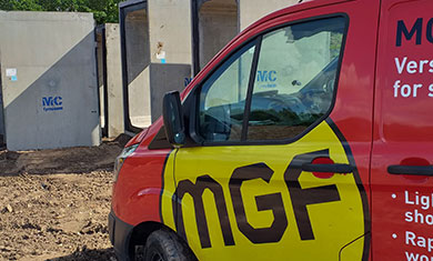 MGF van onsite