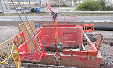 MGF equipment installed at the side of a motorway