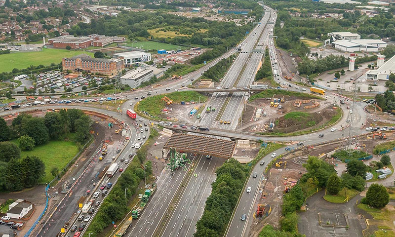 M6 drone footage